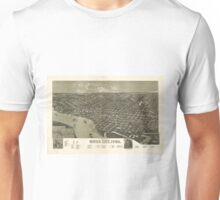 Vintage Pictorial Map of Sioux City Iowa (1888) Unisex T-Shirt