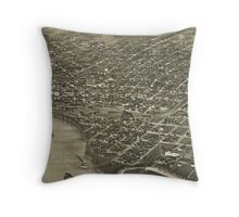 Vintage Pictorial Map of Sioux City Iowa (1888) Throw Pillow
