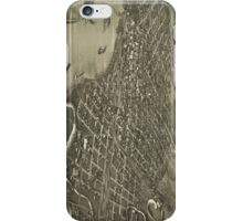 Vintage Pictorial Map of Sioux City Iowa (1888) iPhone Case/Skin