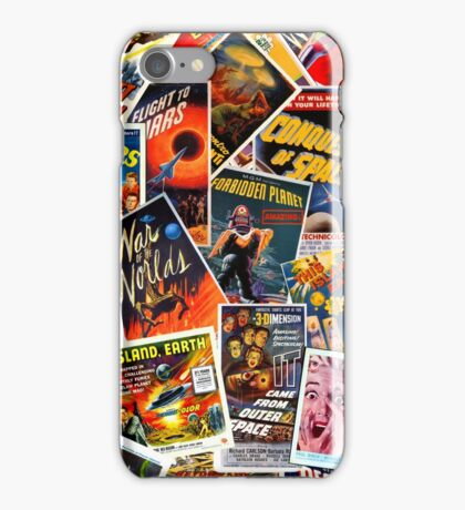 Classic 1950s Science Fiction Poster Collage iPhone Case/Skin