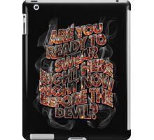 DEVIL BARGAIN - embers and smoke iPad Case/Skin