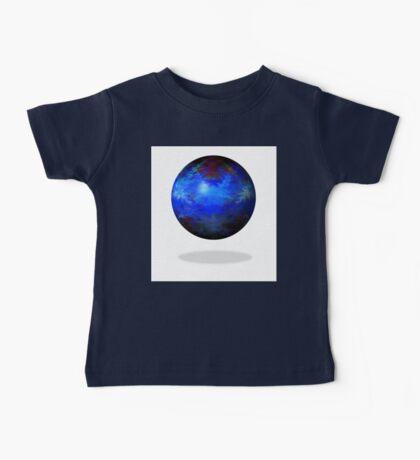Abstract Blue Globe Baby Tee