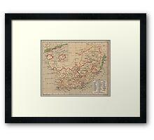 Vintage Map of South Africa (1880) Framed Print