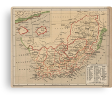 Vintage Map of South Africa (1880) Canvas Print