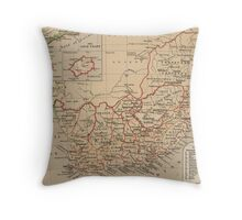 Vintage Map of South Africa (1880) Throw Pillow