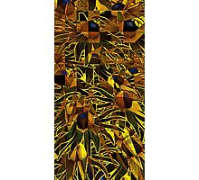 Geo-Psychedelic Sunflowers  Photographic Print