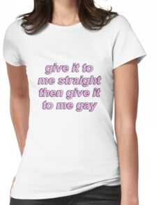 Game Grumps - Give It To Me Straight Womens Fitted T-Shirt