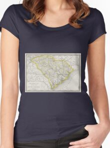 Vintage Map of South Carolina (1889) Women's Fitted Scoop T-Shirt