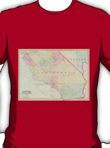 Vintage Map of Southern California (1874) T-Shirt