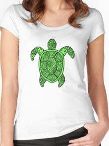turtle green  Women's Fitted Scoop T-Shirt