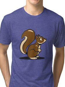 Eichhörmchen süss niedlich  Tri-blend T-Shirt