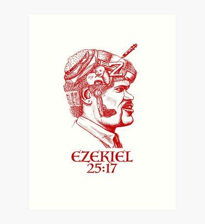 Ezekiel 25:17 The Path of the Righteous Man Art Print