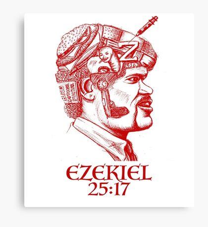 Ezekiel 25:17 The Path of the Righteous Man Canvas Print