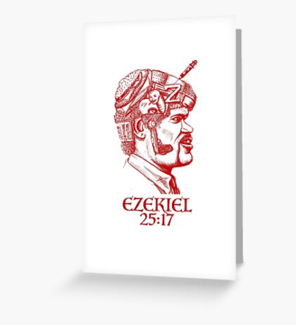 Ezekiel 25:17 The Path of the Righteous Man Greeting Card