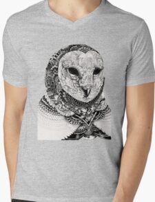 Stab Owl Mens V-Neck T-Shirt