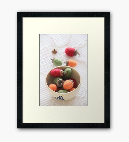 Felted Acorn Season Framed Print