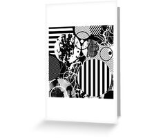 Black And White Chaos Greeting Card