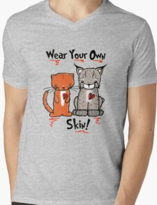 Wear Your Own Skin! Mens V-Neck T-Shirt