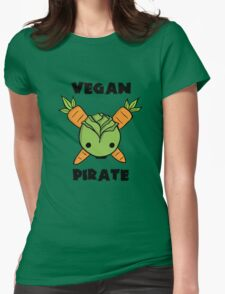 Vegan Pirate Womens Fitted T-Shirt