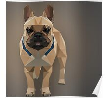 Polygon Frenchie Poster