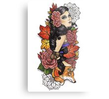 Fox Lady Metal Print