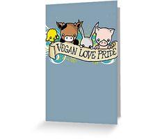Vegan Love Pride Greeting Card