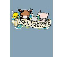 Vegan Love Pride Photographic Print