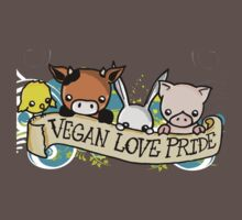 Vegan Love Pride One Piece - Short Sleeve
