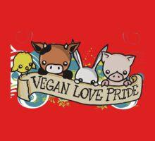Vegan Love Pride Kids Tee