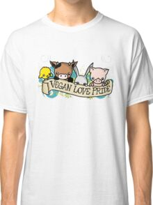 Vegan Love Pride Classic T-Shirt