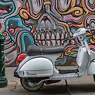 Vespa in Hosier Lane ,Melbourne by Pauline Tims