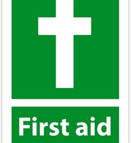 First Aid Cross - Christian Sign from #SignsoftheTimes Series Sticker