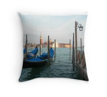 Venetian Taxi Throw Pillow