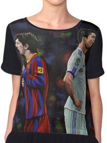Lionel Messi and Cristiano Ronaldo Chiffon Top