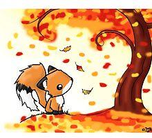 Fox in the Fall by Bianca Loran