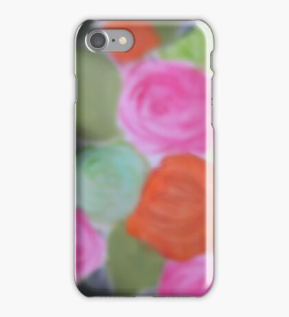 Neon Night Roses Floral-Print iPhone Case/Skin