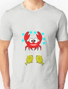 crab & 2 fish (7646 Views) T-Shirt