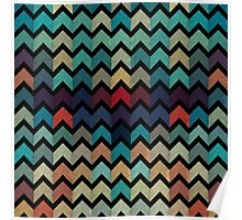 Watercolor Chevron Pattern II Poster