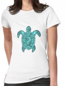 turtle blue  Womens Fitted T-Shirt