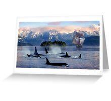 Sail With Sea Wolfs Greeting Card