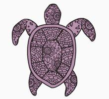 turtle purple  Kids Tee