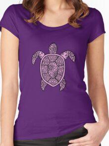 turtle purple  Women's Fitted Scoop T-Shirt