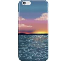 Tranquil Ocean Sunset Print, Poster, Throw Pillow, iPhone Case, Samsung Case, iPad Case, Tote Bag iPhone Case/Skin