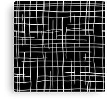 Modern black & white Canvas Print