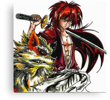 Kenshin with Arcanine  Canvas Print