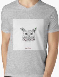 Owl Cover art for Stab Recordings Mens V-Neck T-Shirt
