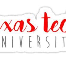 Texas Tech Sticker