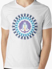 Young woman practicing meditation 10 Mens V-Neck T-Shirt