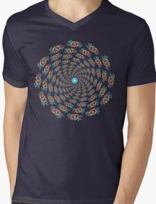 Psychedelic eyes mandala 15 Mens V-Neck T-Shirt