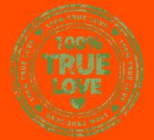 100% True Love Pink St. Valentine's Day Stamp Kids Tee